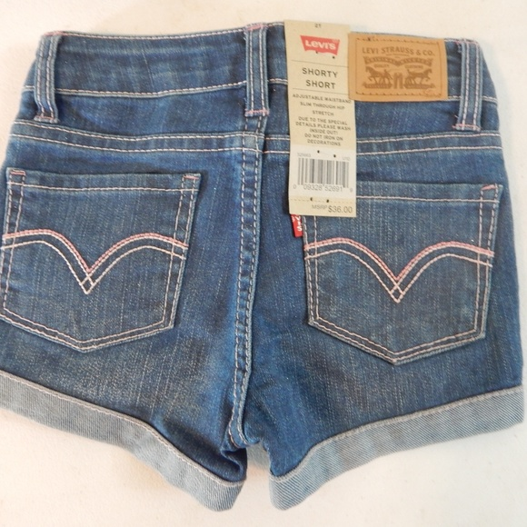 74bc3be3 Levi's Bottoms | Levis Size 3t Girls Sparkly Shorty Shorts Nwt ...